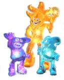 Ato, Nik y Kaz, mascotte Coupe du monde Japon / Corée du Sud 2002
