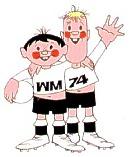 Tip y Tap, mascotte Coupe du monde Allemagne 1974